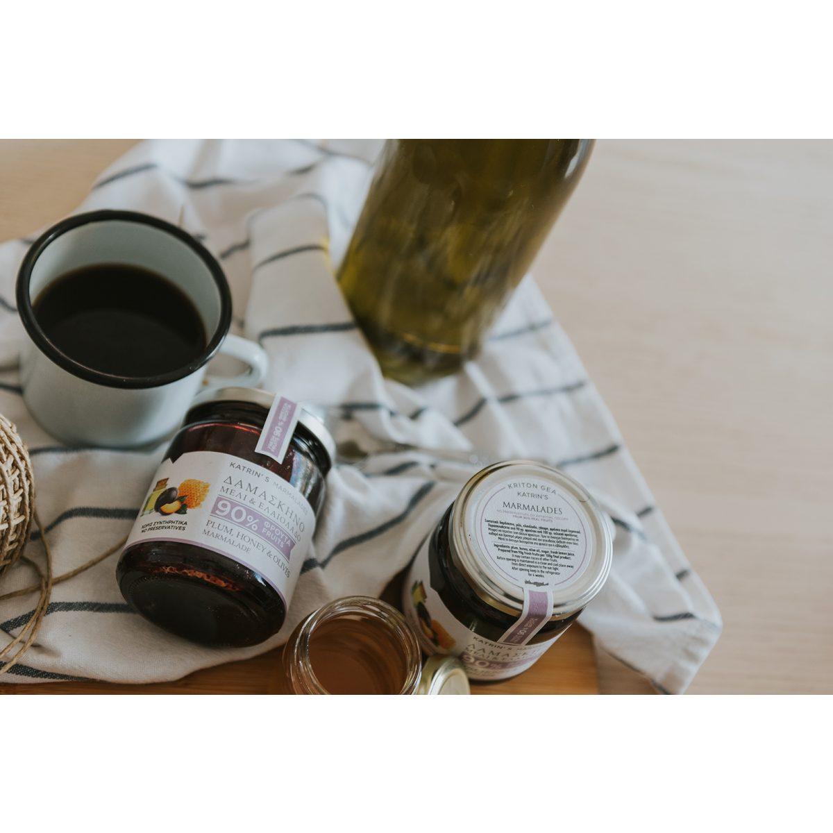 Μαρμελάδα Δαμάσκηνο – Μέλι – Ελαιόλαδο